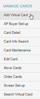 Click Add Virtual Card