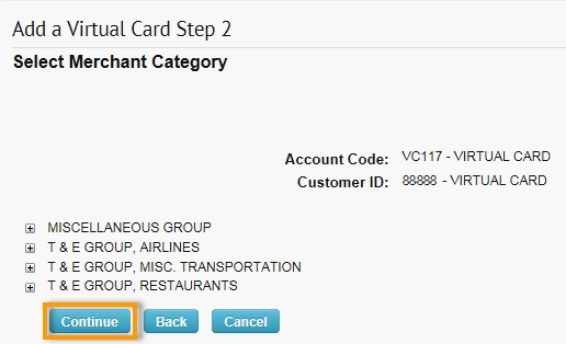 Add a Virtual Card Step 2