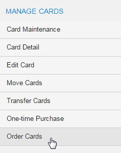 Select Order Cards
