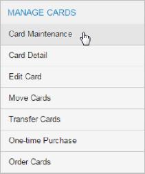 Card Maintenance